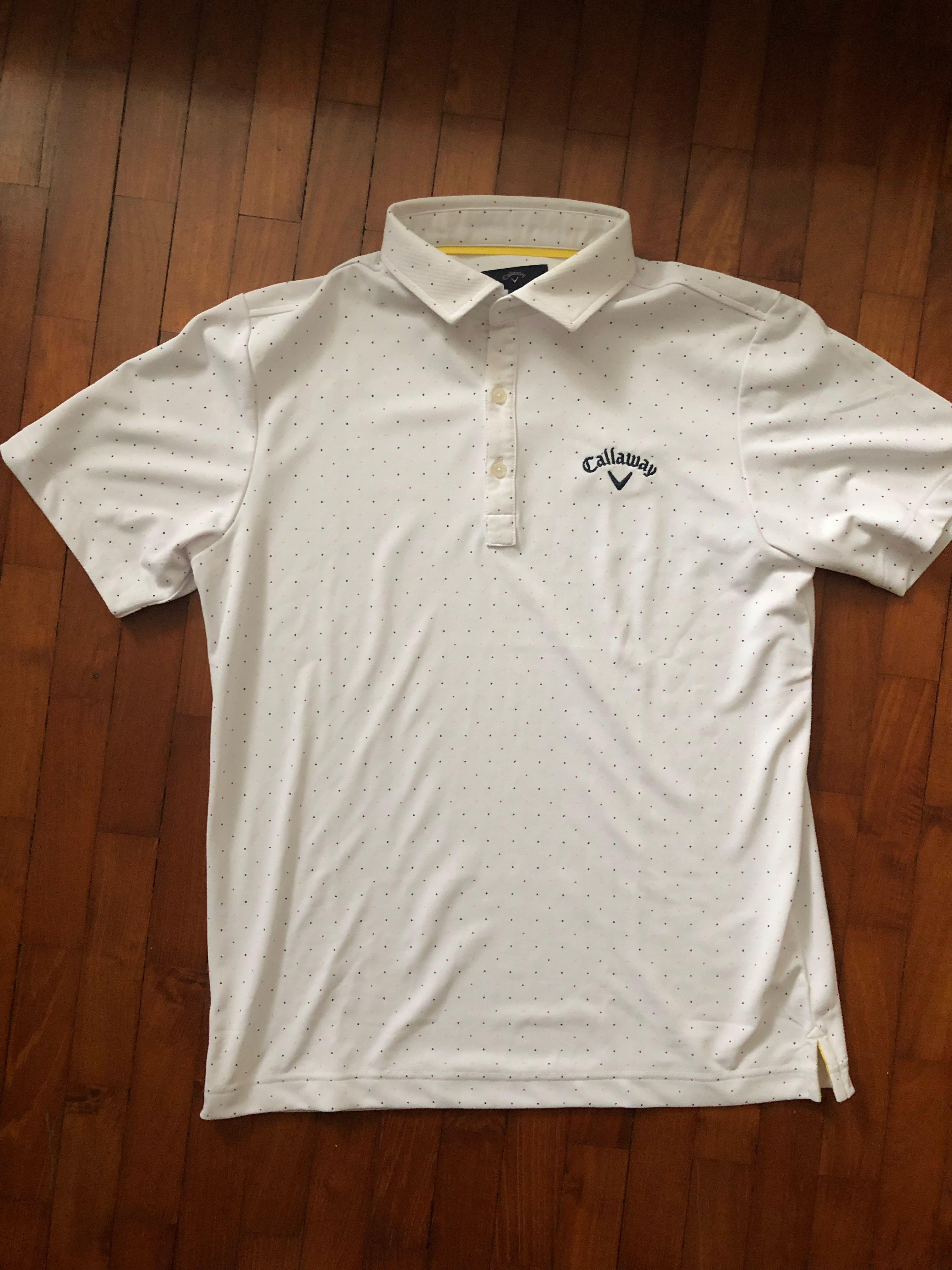 Authentic Callaway White Polo Tee