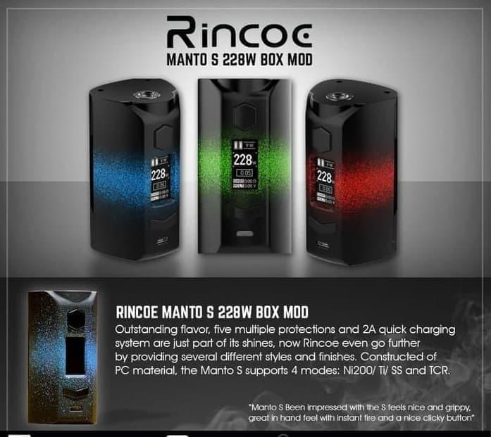 AUTHENTIC RINCOE MANTO S228 MOD ONLY - MANTO S228W MOD AUTHENTIC