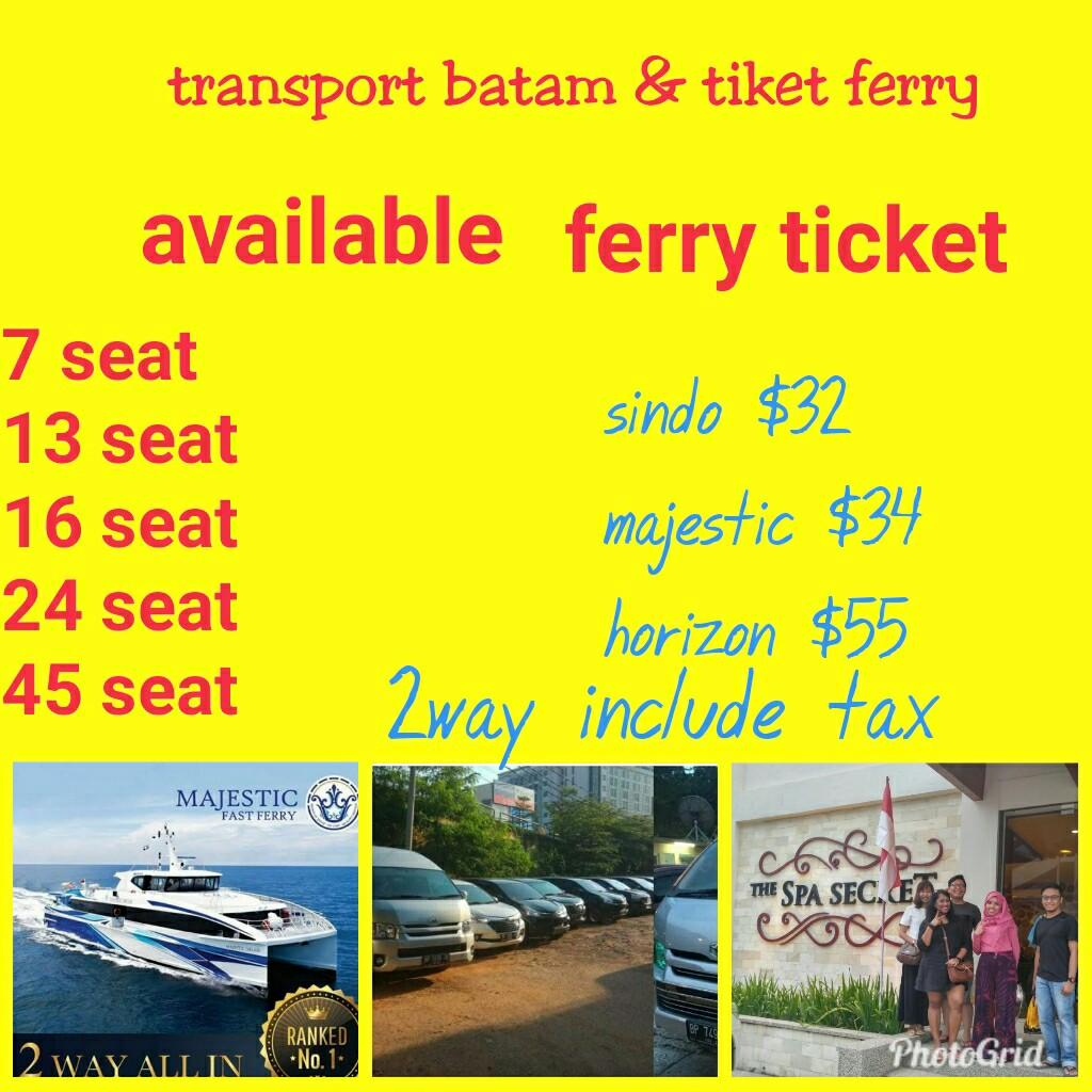 Batam transport & ferry ticket (http://www.wasap.my/+6285765150288