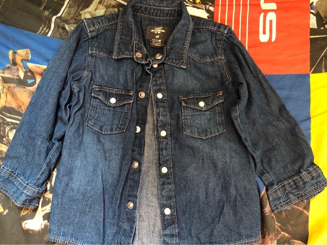 男女bb 兒童牛仔色外套 H&M 12-18m