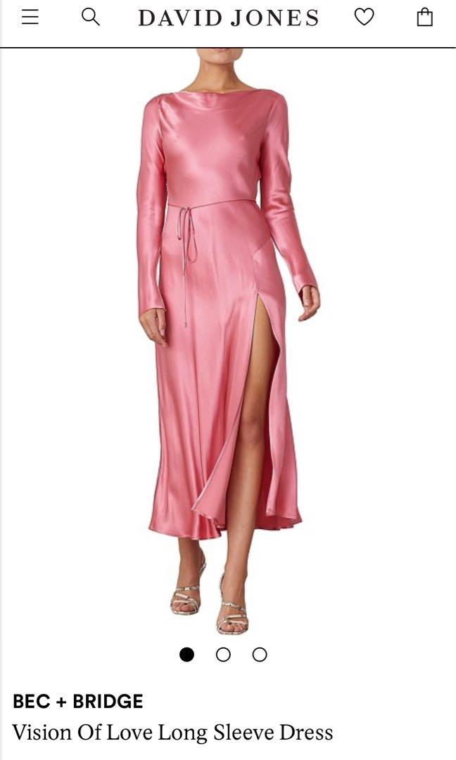 Bec and Bridge Vision of Love Long sleeve dress Pink Rose