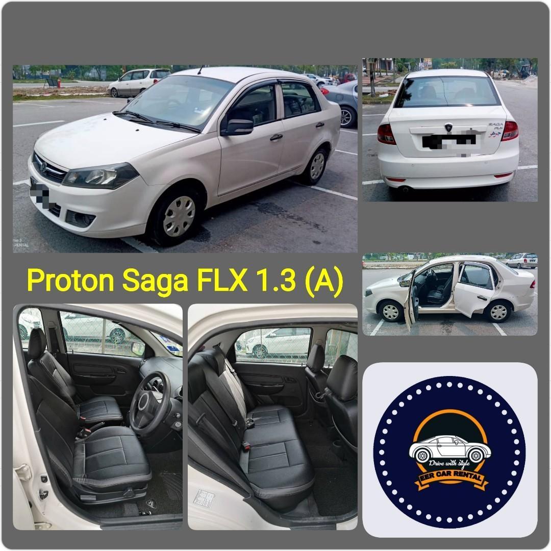 Best Proton Saga Flx 1.3 (A) Kereta Sewa Selangor KL