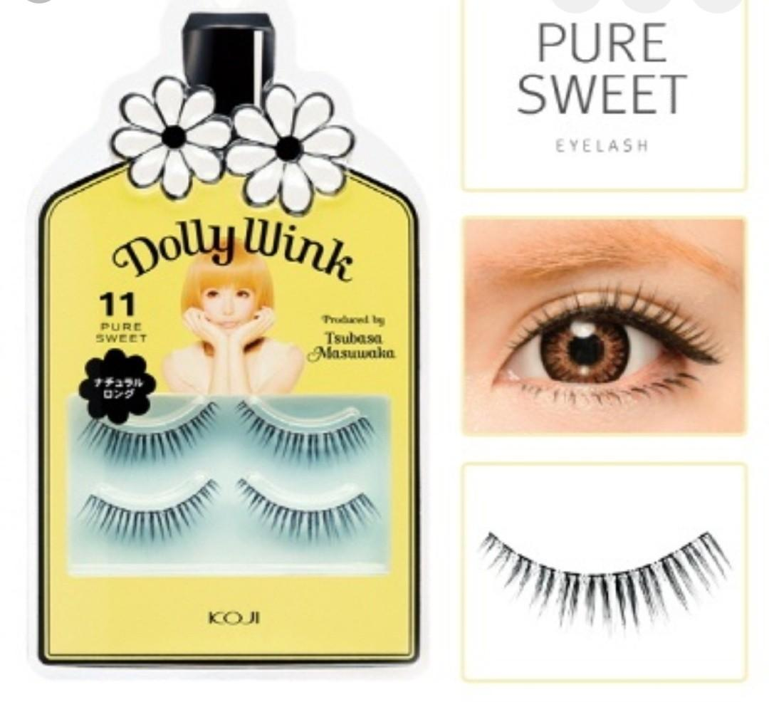 BNIB KOJI Dolly Wink False Lashes (#11 Pure Sweet/2 pairs)