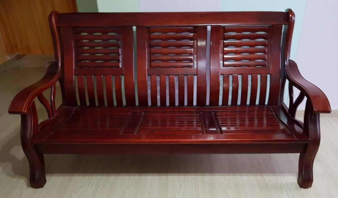 Brand New Sofa & Rose Wood Chair