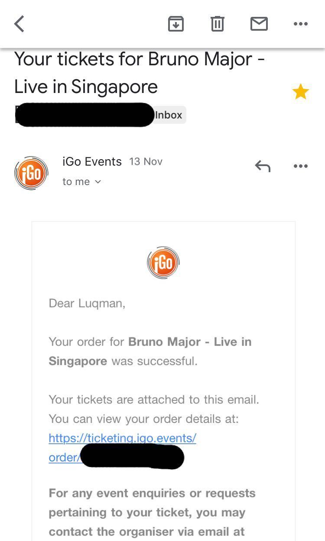 Bruno Major Live in Singapore