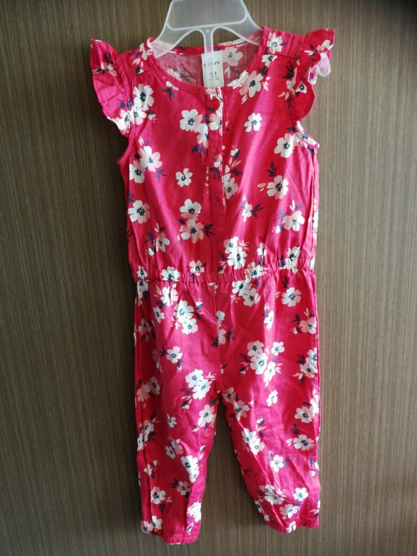 Carters red floral romper