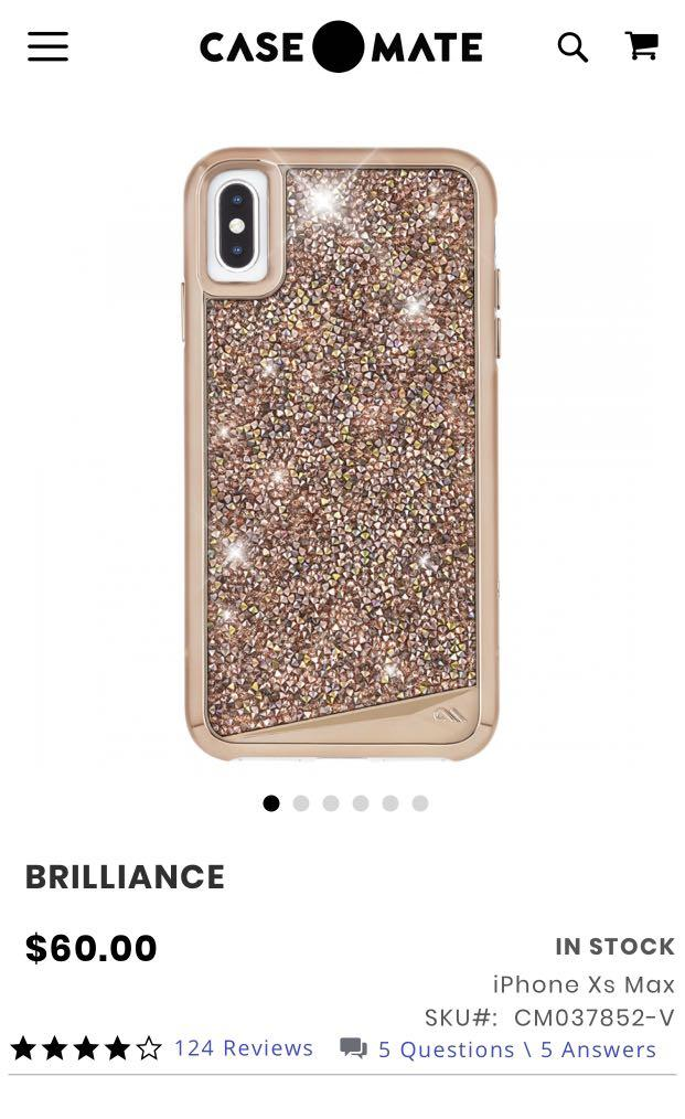 Casemate Brilliance iPhone XS Max cover - Rose Gold