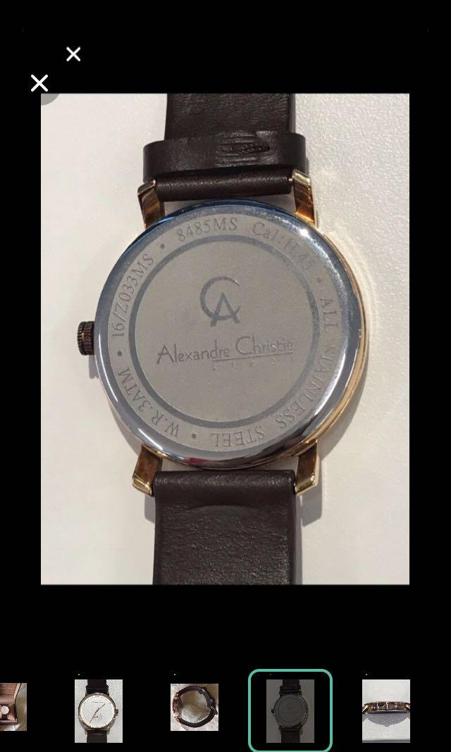 CLEARANCE SALES {Men's Fashion - Dress Watch} Authentic Pre-loved ALEXANDRE CHRISTIE Brand Classy Unisex Stainless Steel Quartz Wrist Watch Come With International Guarantee & Original Box