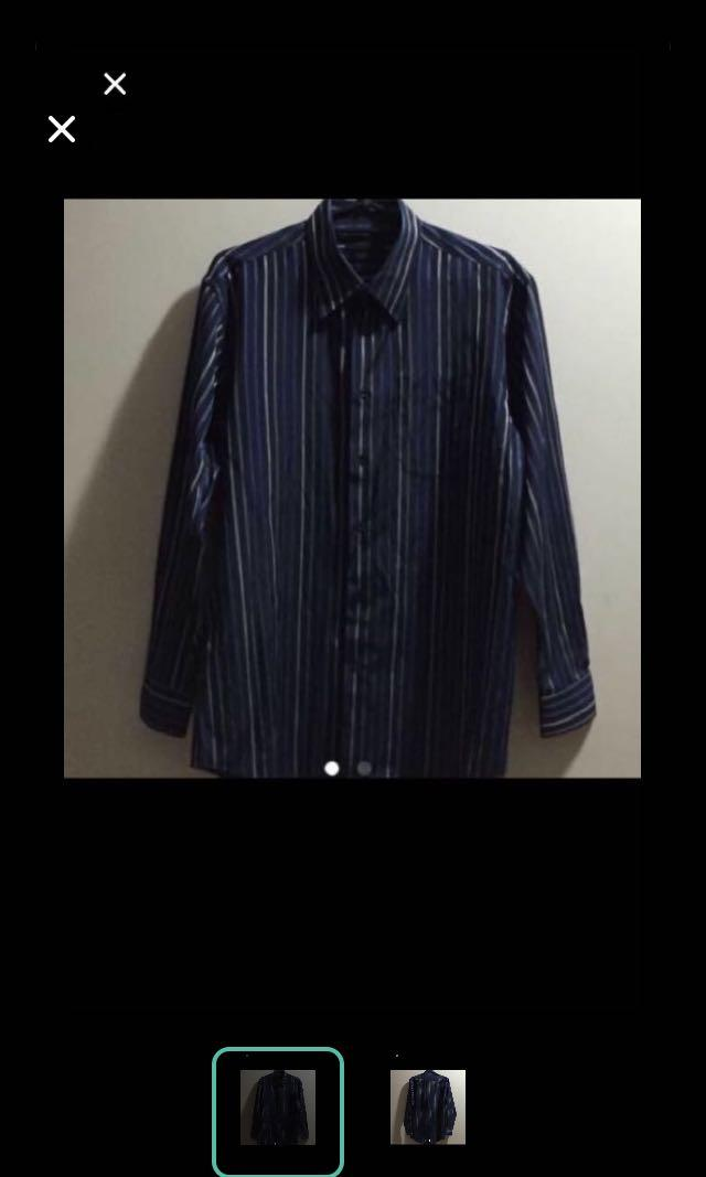 CLEARANCE SALES {Men's Fashion - Long Sleeve Shirts} Pre-owned A•SMITH Brand Easy Care Classic Long Sleeve Shirt