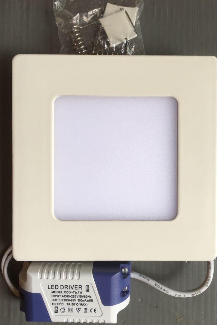 Clearing 6 sets warm white LED square (12 x 12 cm) ceiling lights (ref: 300)