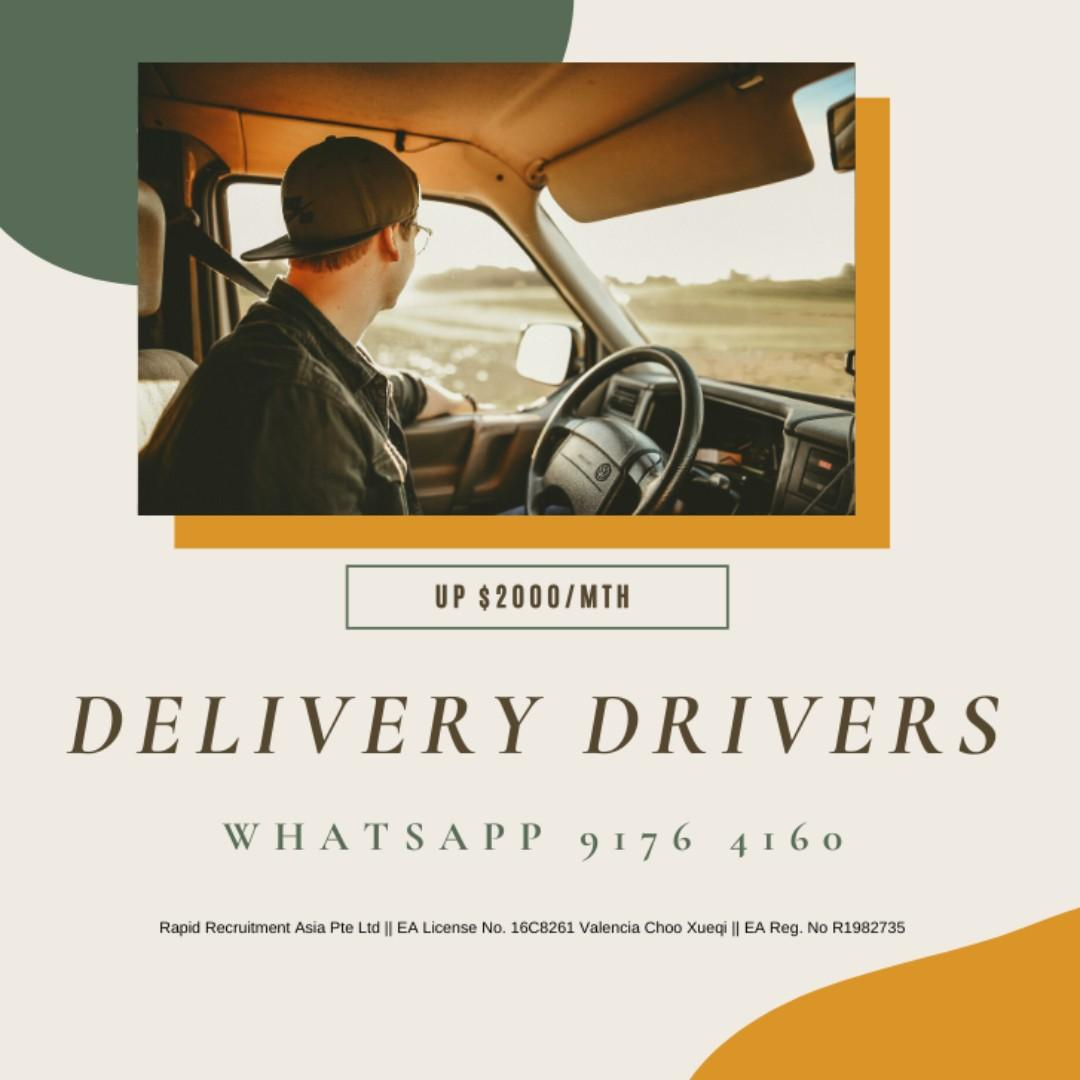 Delivery Drivers @ West ( Immediate Starters, 5.5 days )