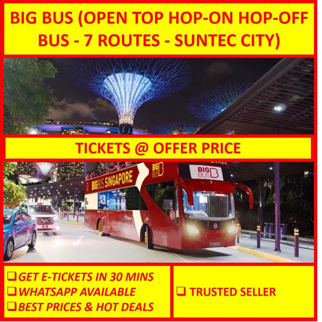 E TICKET // Big Bus (Open Top Hop-on Hop-off Bus - 7 Routes - SunTec City)