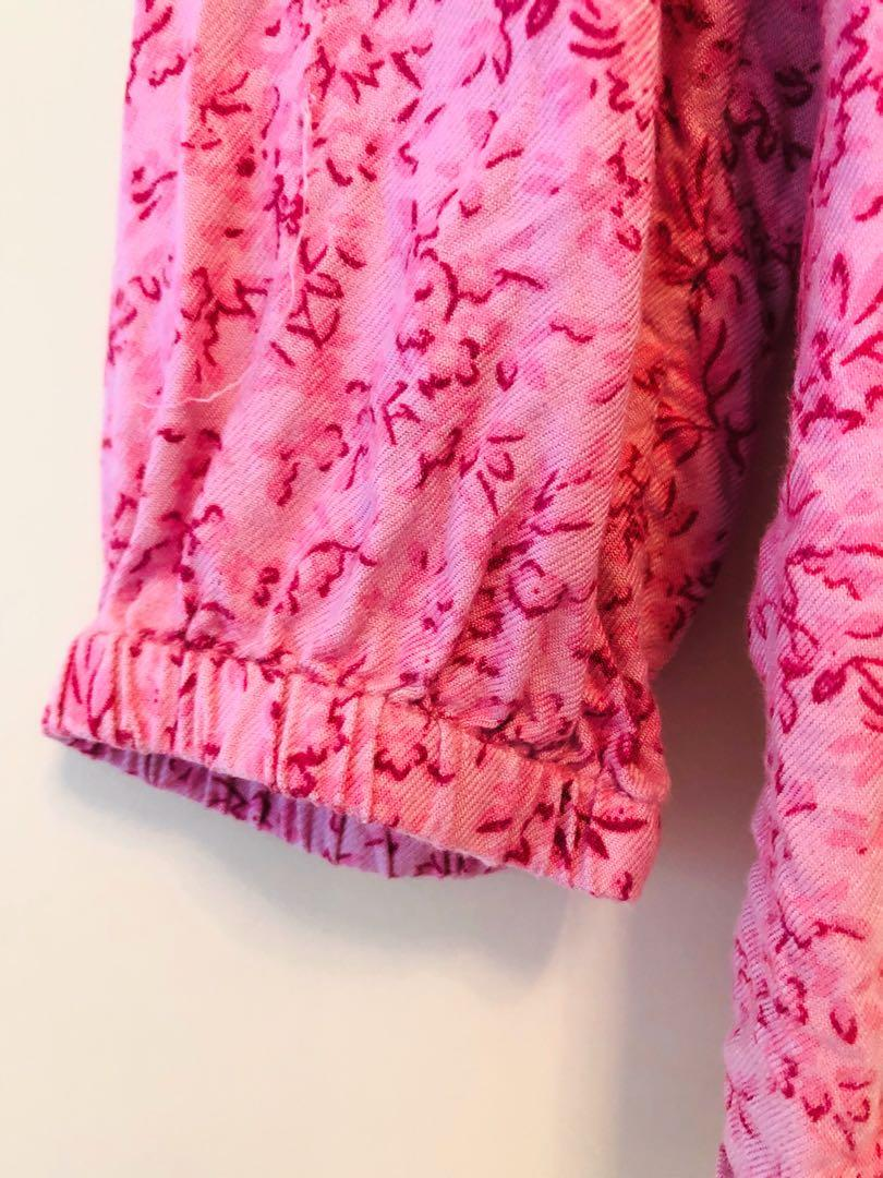 Esprit 專櫃粉色碎花上衣(2 歲)