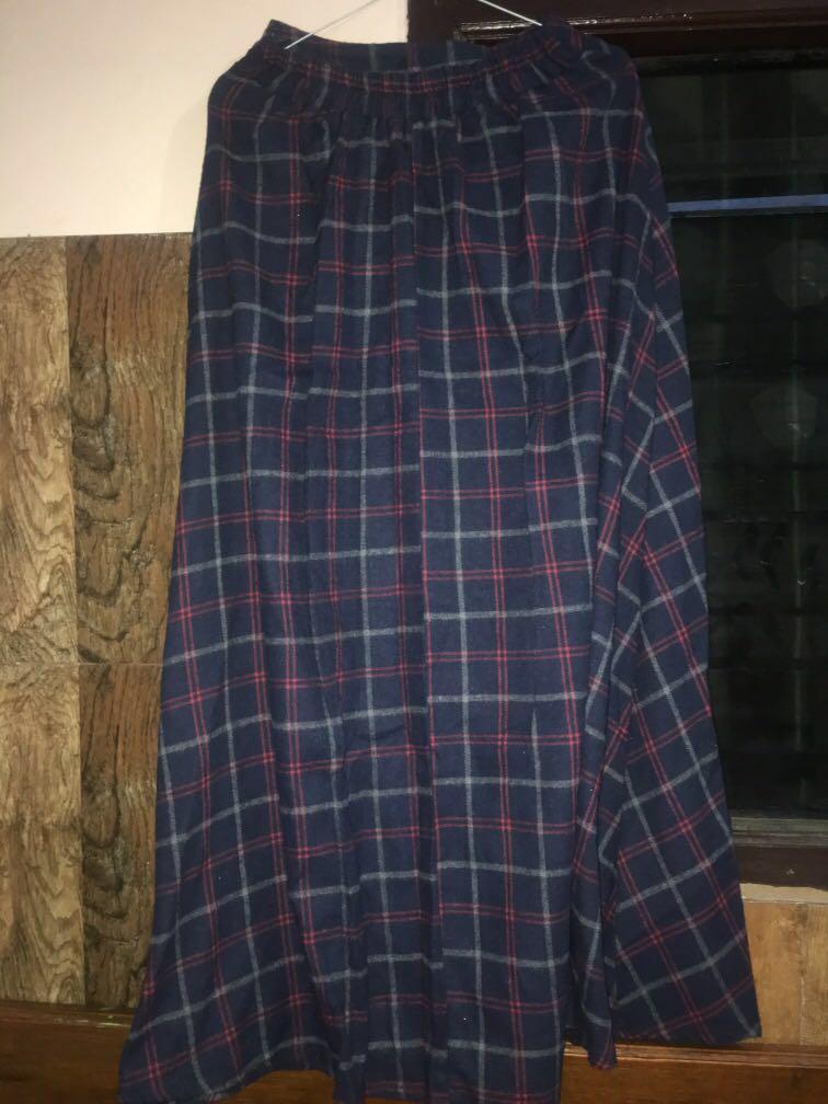Flanel skirt / skirt / rok kotak kotak