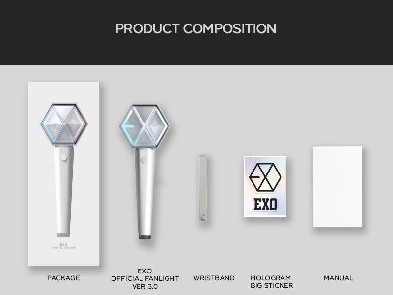 [FREE LOCAL POSTAGE] EXO LIGHTSTICK, POUCH AND ALBUM