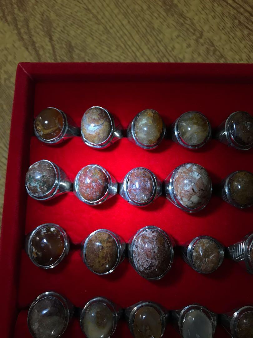 Gemstones rings ($15-$20)