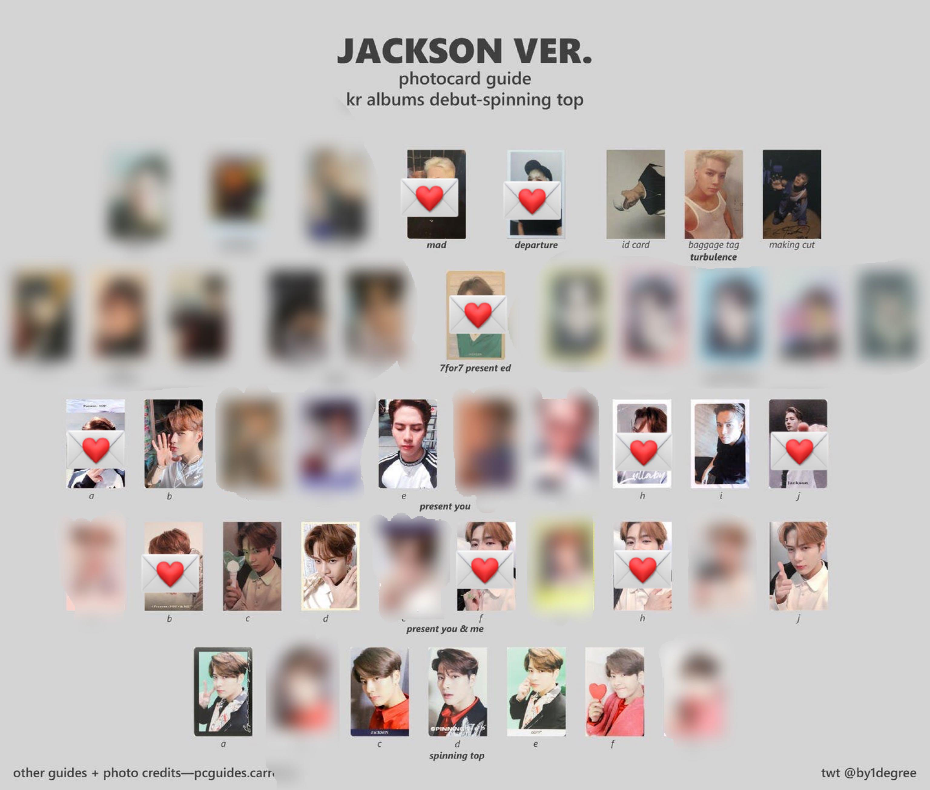 GOT7 PC's (DEPARTURE/TURBULENCE/ARRIVAL/7FOR7/EYES ON YOU/SPINNING TOP)