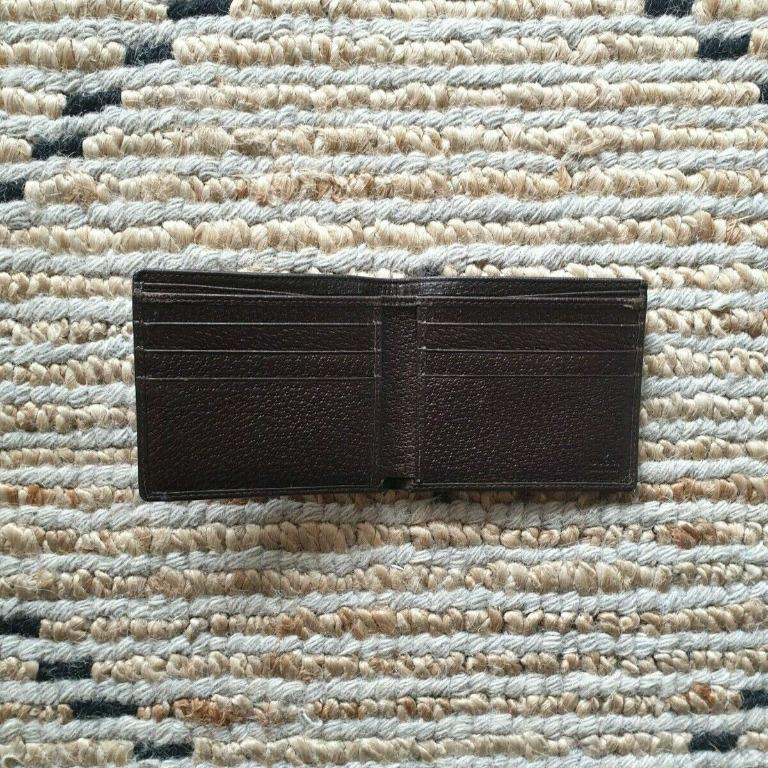 Gucci Mens Bifold Wallet Leather/Canvas Brown/Beige - Excellent condition