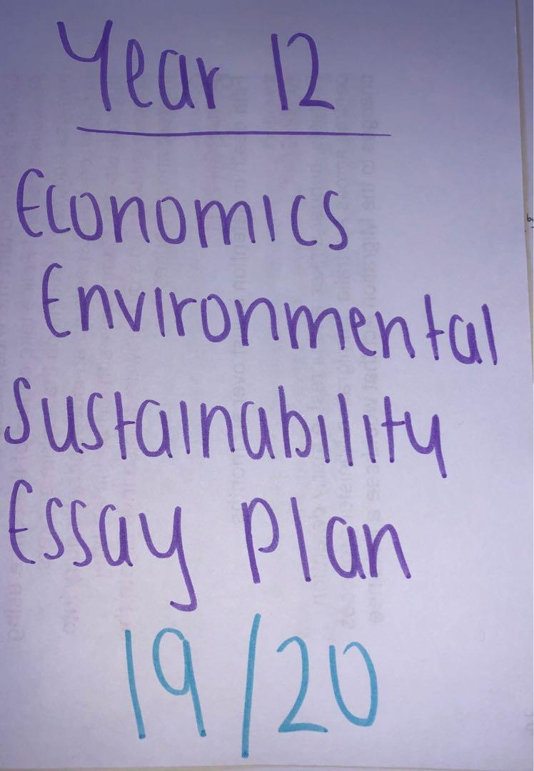 HSC Economics Environmental Sustainability Essay Plan