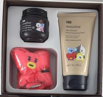 Innisfree x BT21 Volcanic Pore Clay Mask & Cleansing Foam Set #1111special