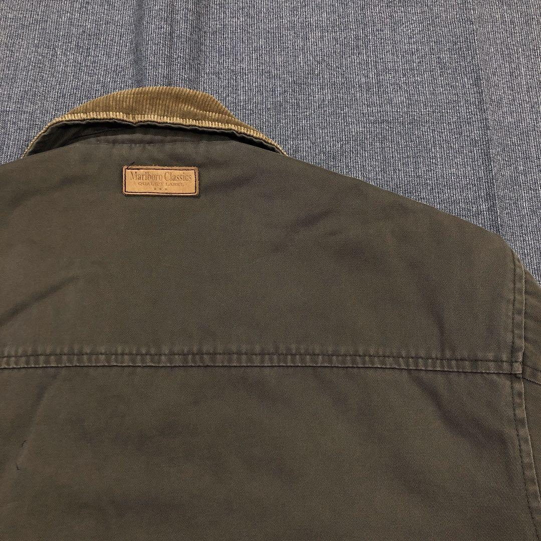 Marlboro Classics 古著軍綠燈芯絨領中長外套