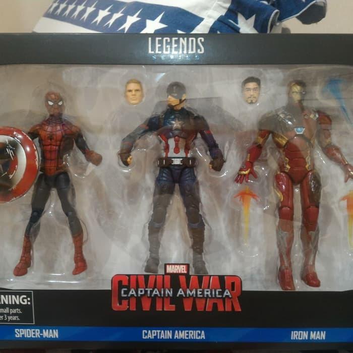 Marvel Legends Civil War 3 pack - Spiderman Iron man Captain America
