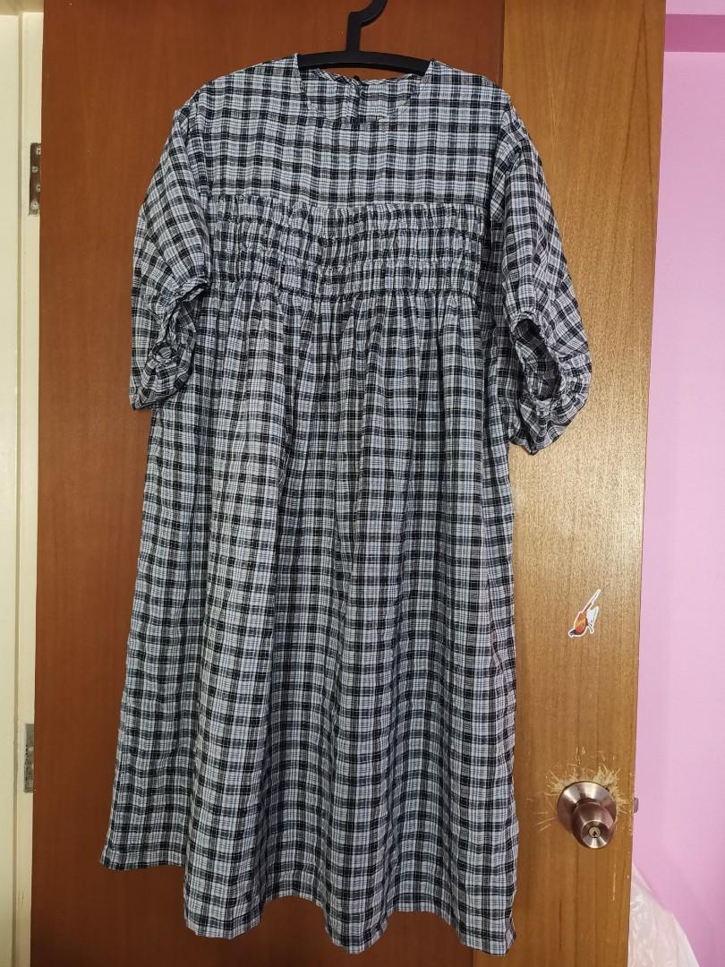 *New*  Babydoll checkered oversized plus size dress uk12 uk14 uk16 uk18 uk20 uk22