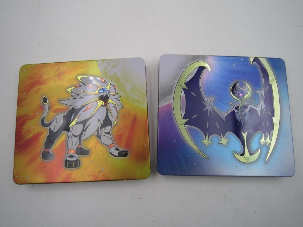 Pokemon Sun & Moon Steelbook Case dual pack Nintendo 3DS (NO GAME)