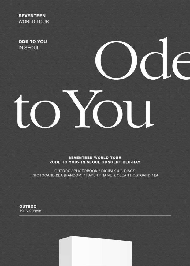 [PREORDER] SEVENTEEN WORLD TOUR <ODE TO YOU> IN SEOUL CONCERT [BLU-RAY]