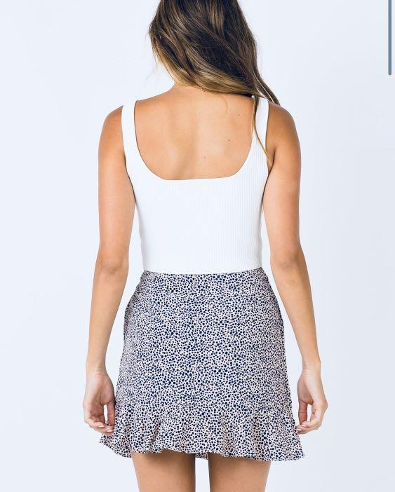 RRP $70 Black and White Tie Wrap Skirt size 8 (new!)