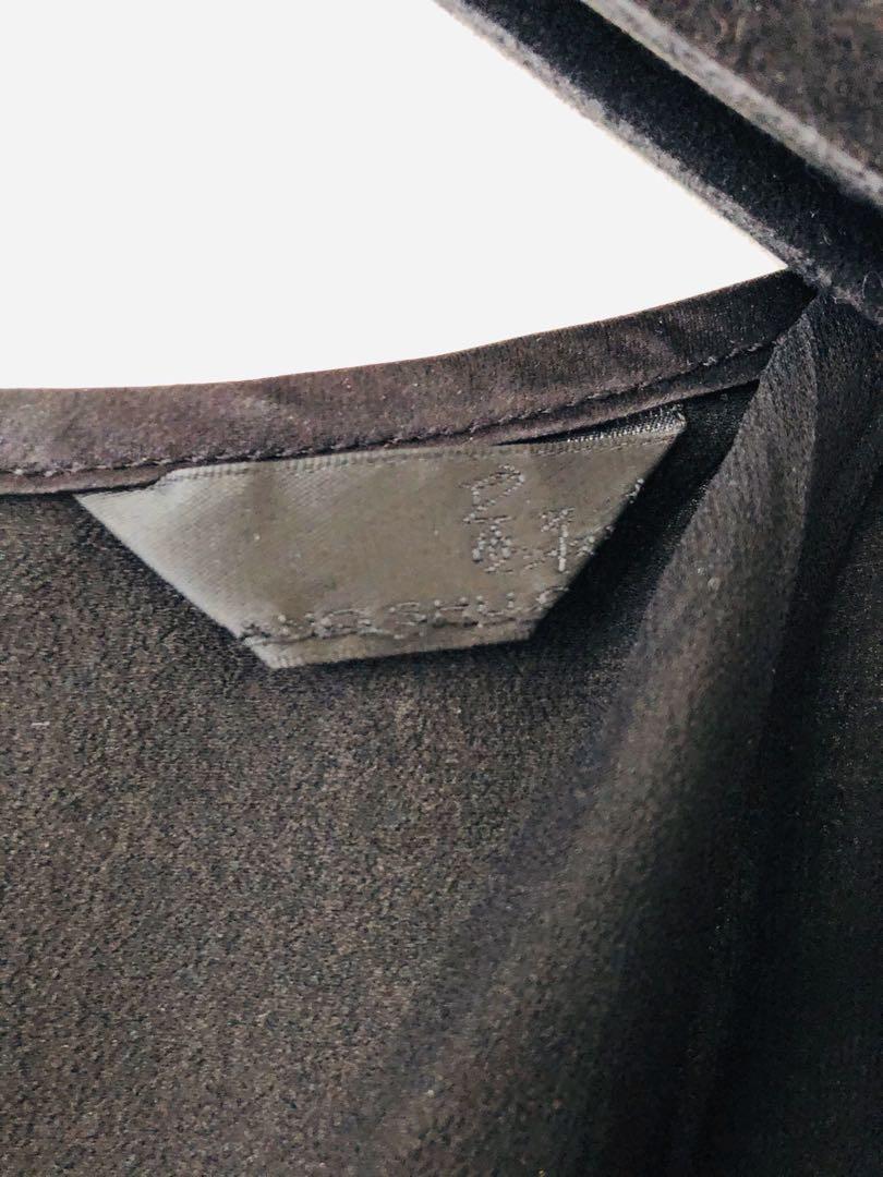 黃淑琦黑色絲質洋裝(S)