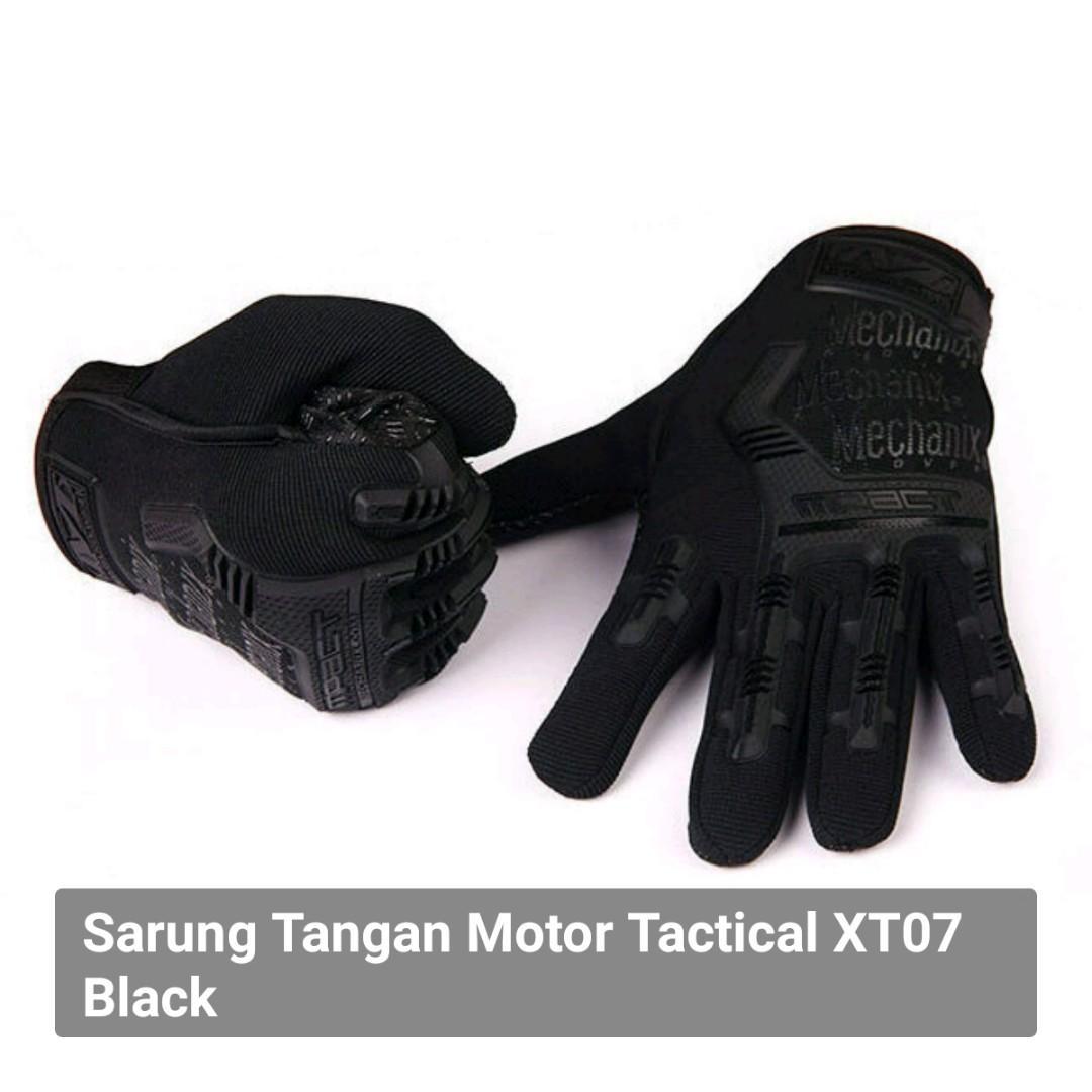 Sarung Tangan Motor Tactical XT07 Black