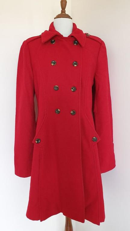 Size 14 Vgc ladies Barkins red winter coat Fully lined With pockets