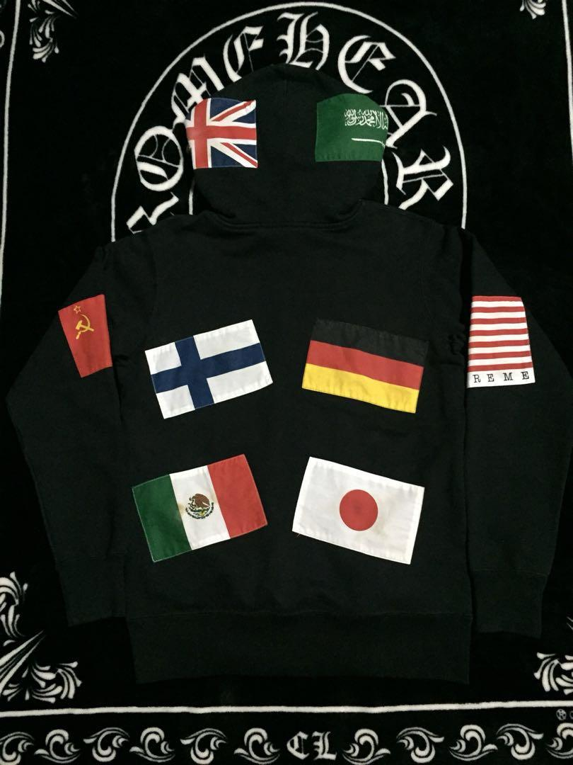 Supreme Flags Pullover (Black) Hoodie 2013