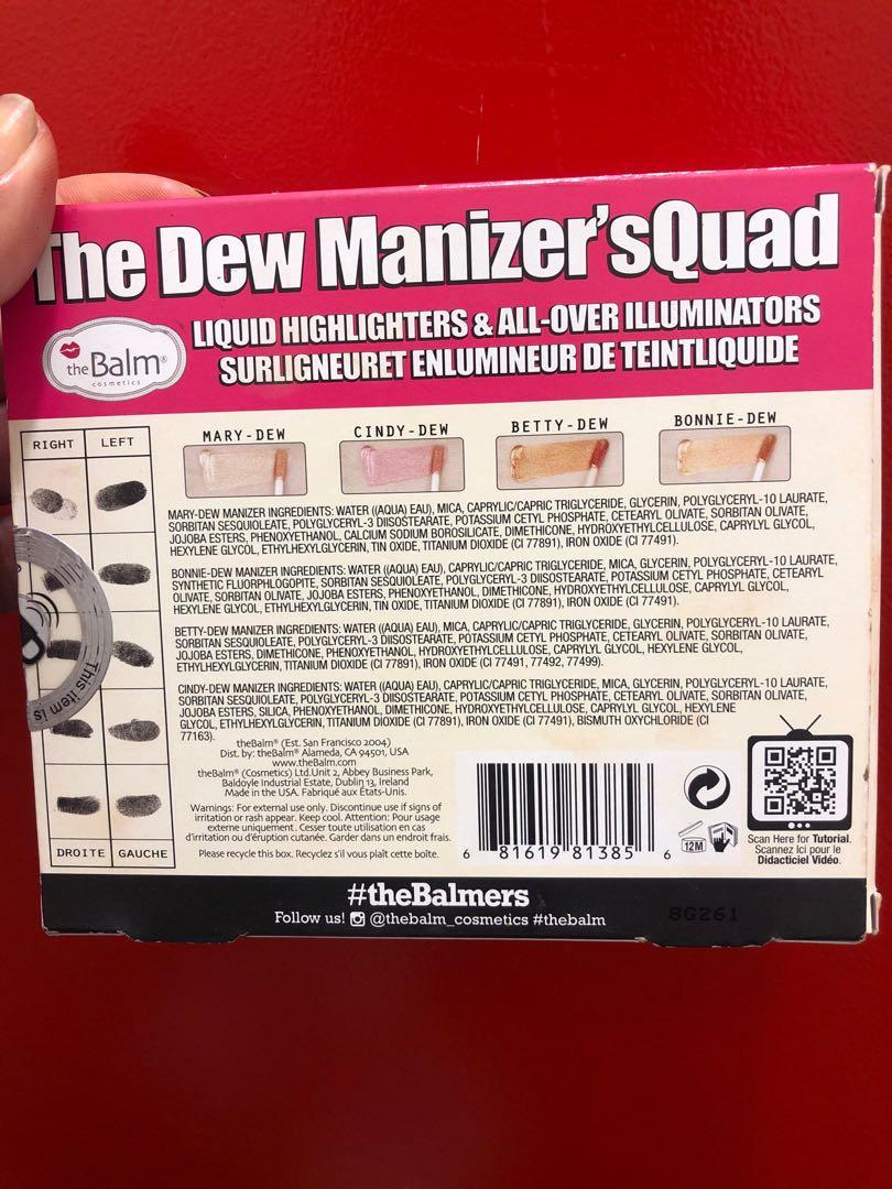 The Dew Manizer's Squad Liquid All over highlighters.