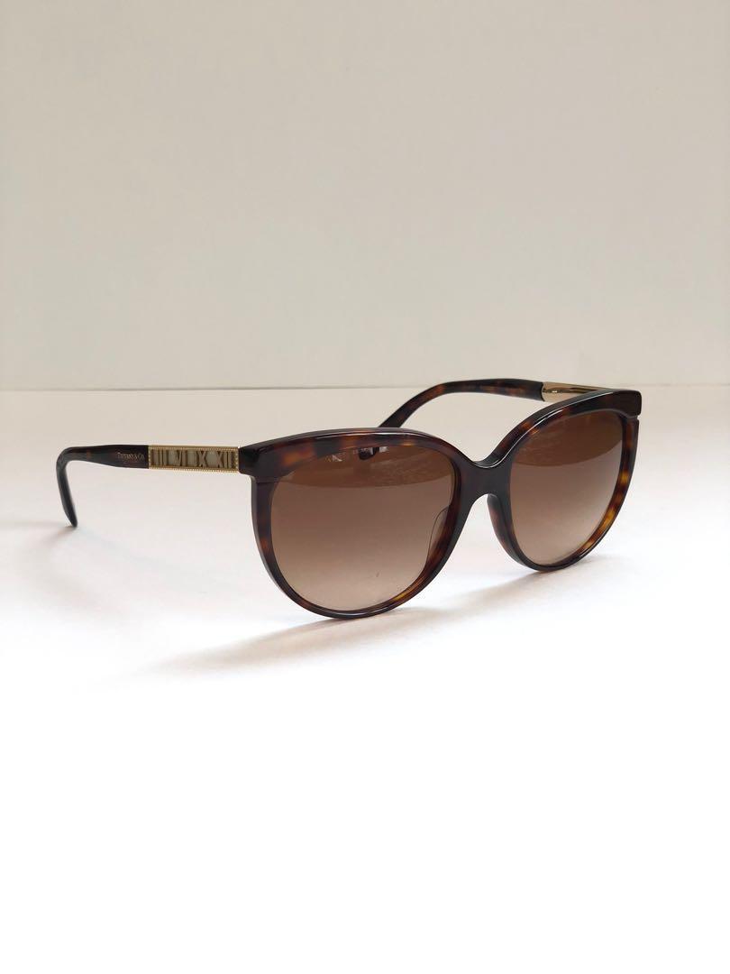 Tiffany & Co. Atlas Cat Eye Sunglasses TF 4097 - Havana