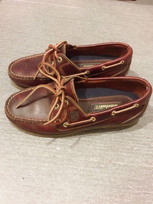 Timberland 女款經典深棕色帆船鞋 雷根鞋