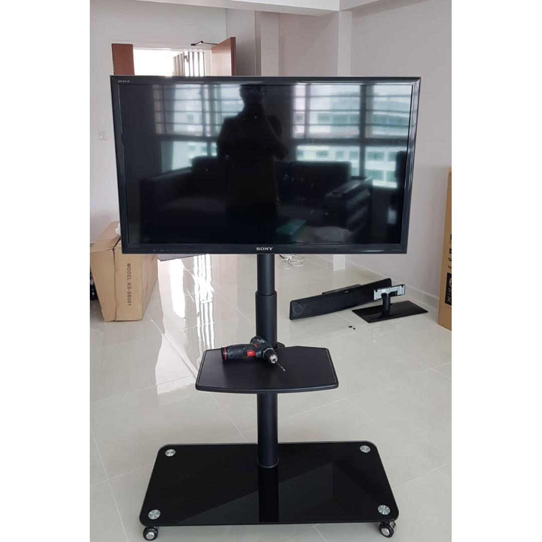 TV Stand With Wheels for Display up to 47 inch whatsapp9856 7355 pp1115