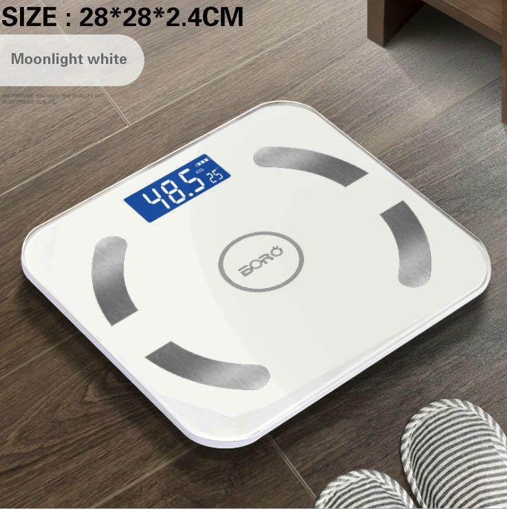 [USB charging + Bluetooth smart body fat scale] human health weight fat scale electronic scale APP -intl