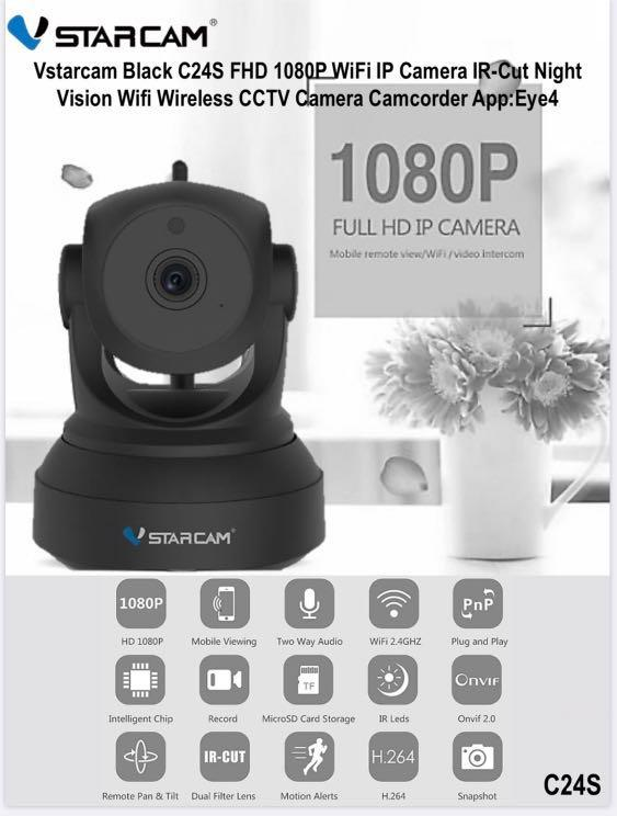[Vstarcam Series] Original Authentic VSTARCAM Wireless CCTV IP Camera Series with SG 3-Pin Power Adaptor at Distributor WHOLESALE Price (G43S - C24S - C22S - C26S - C22Q - C16S - C17S) <LOCAL SG AGENT STOCKS>