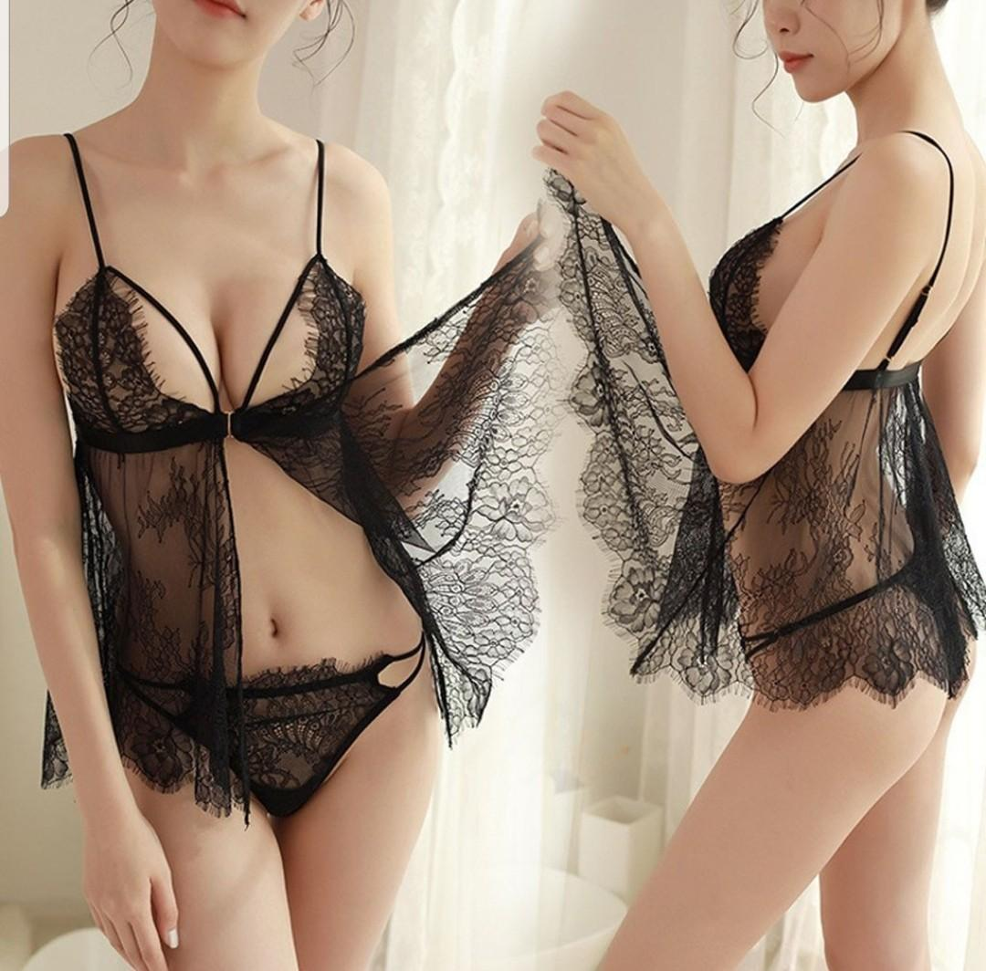 Women  Lingerie lace dress  sleepwear nightwear in stock