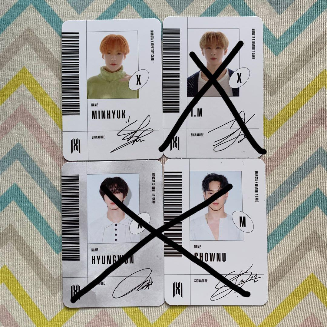 Wts Monsta X Follow Find You ID member photocard pc