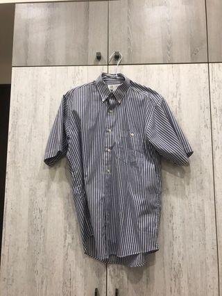 DKNY副牌 Andy Karen 男性短袖條紋襯衫