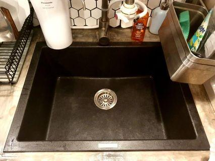 Great Condition Granite Sink and Faucet