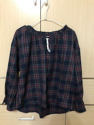 韓系格子造型上衣 #剁手時尚