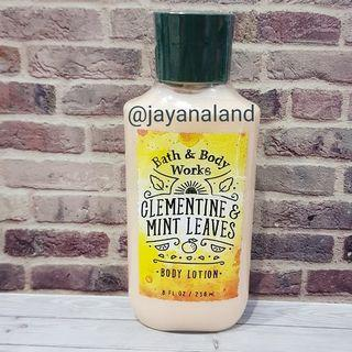 BBW CLEMENTINE MINT LEAVES LOTION