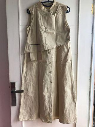 Beige Outer Dress