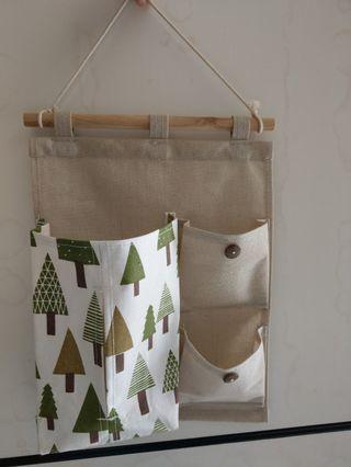 北歐風衛生紙收納掛袋 森林小樹