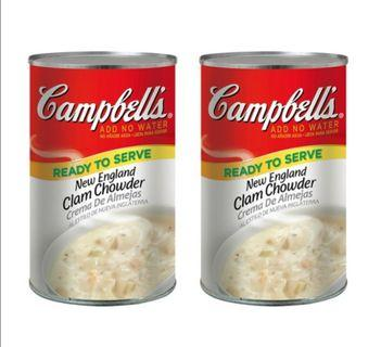Campbell's 金寶 新英倫蛤蜊濃湯 1.41公斤兩罐