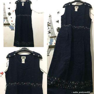 Longdress navy cantik import
